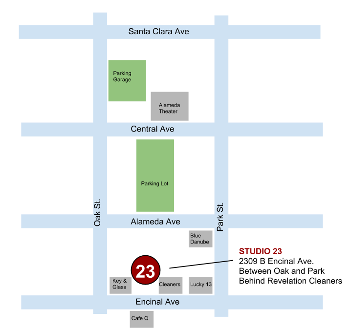 studio 23 alameda parking map